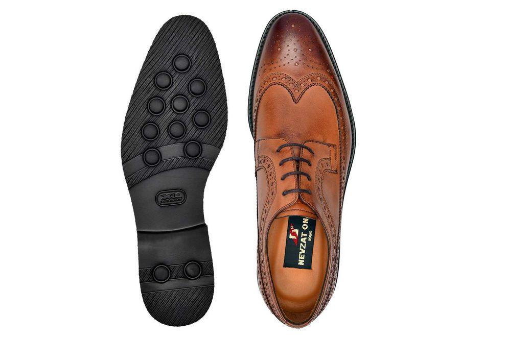 Hakiki Deri Taba Günlük Bağcıklı Erkek Ayakkabı -8459-