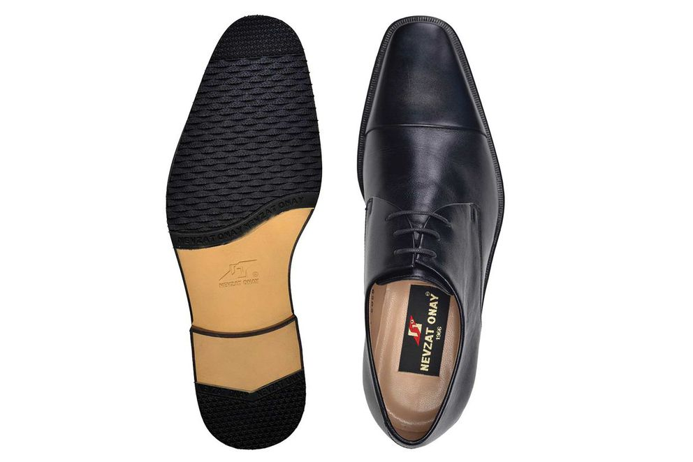 Hakiki Deri Siyah Klasik Bağcıklı Erkek Ayakkabı -7680-