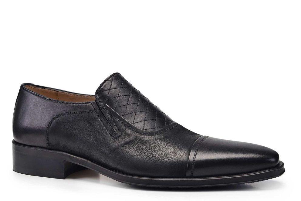 Hakiki Deri Siyah Klasik Loafer Erkek Ayakkabı -7779-