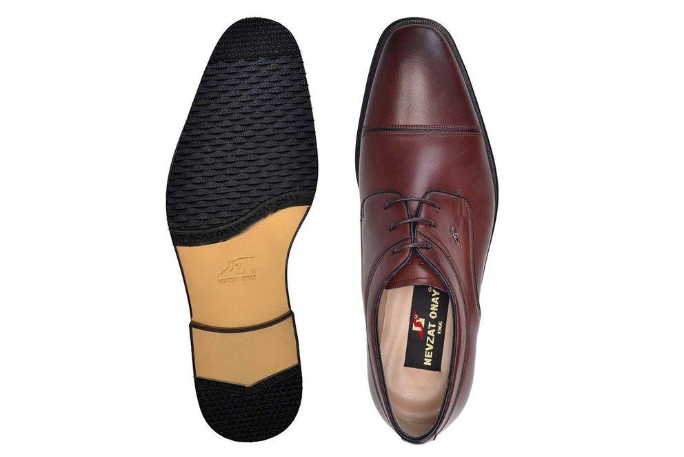 Hakiki Deri Kahverengi Klasik Bağcıklı Erkek Ayakkabı -7627-