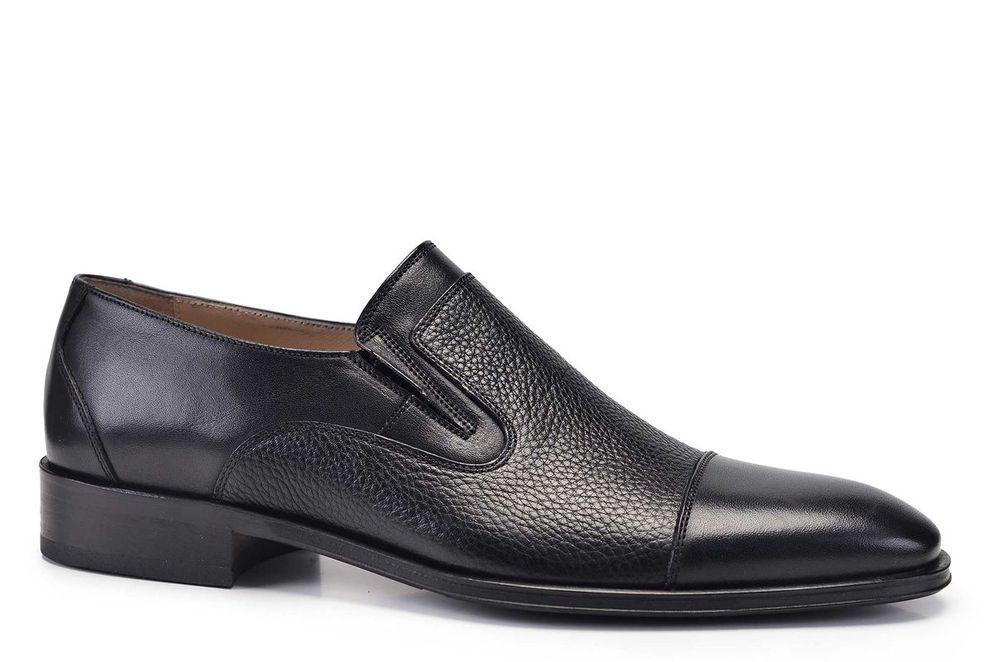 Hakiki Deri Siyah Günlük Loafer Neolit Erkek Ayakkabı -11346-