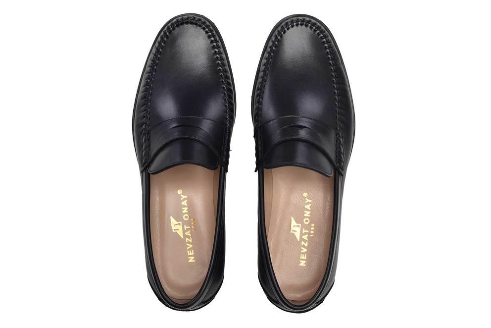 Hakiki Deri Siyah Günlük Loafer Neolit Erkek Ayakkabı -11670-