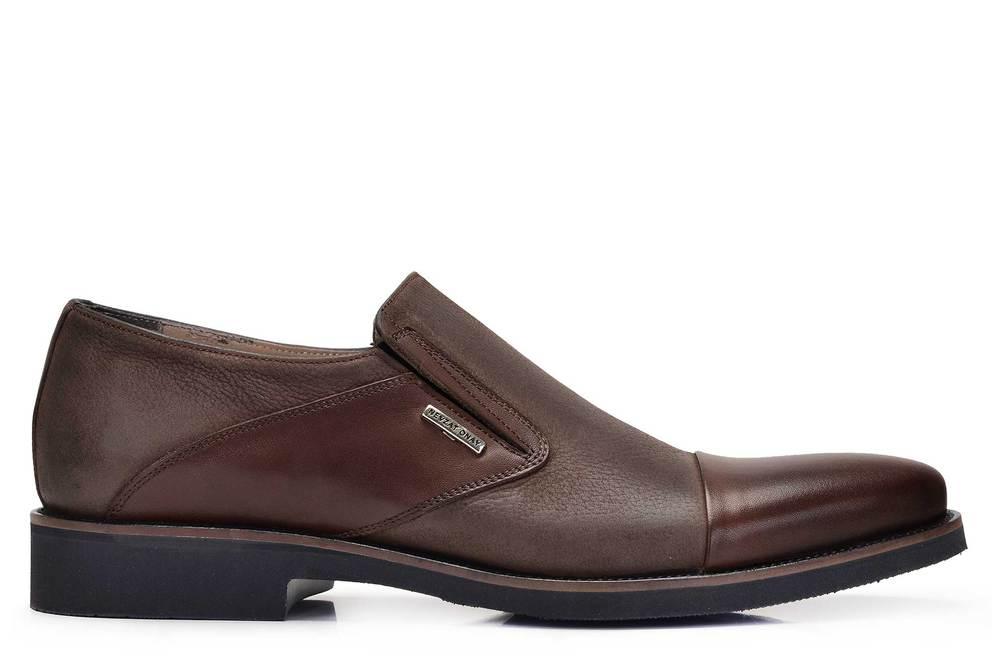 Hakiki Deri Kahverengi Günlük Loafer Erkek Ayakkabı -11667-