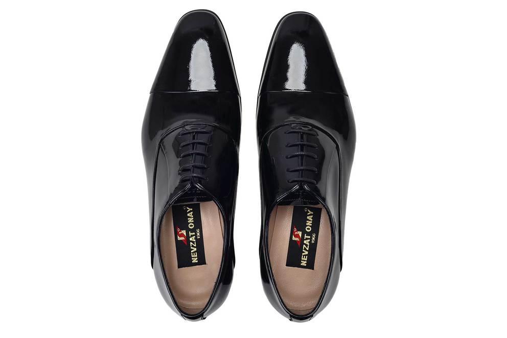 Hakiki Deri Siyah Günlük Bağcıklı Erkek Ayakkabı -11697-