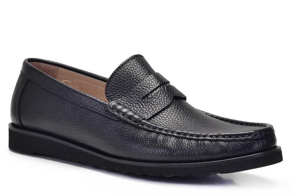 Hakiki Deri Siyah Günlük Loafer Erkek Ayakkabı -11682-