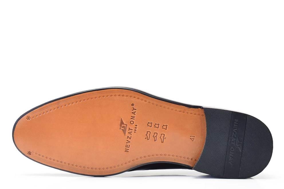 Hakiki Deri Klasik Bağcıklı Bordo Kösele Erkek Ayakkabı -11837-