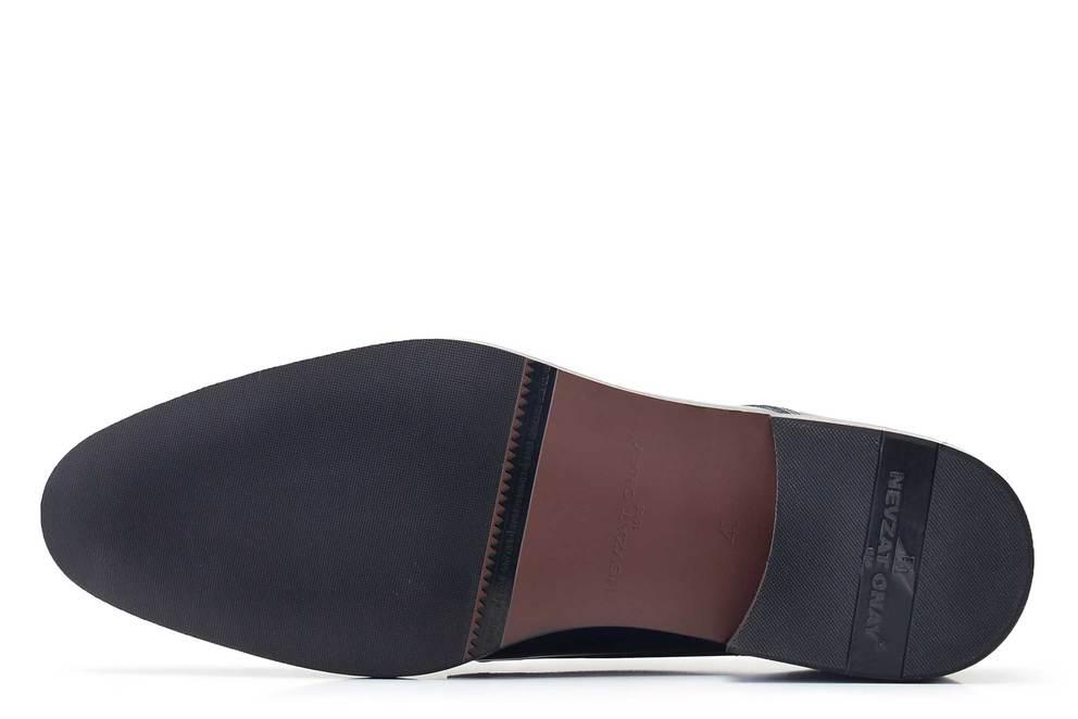 Hakiki Deri Lacivert Bağcıklı Neolit Erkek Ayakkabı -11840-
