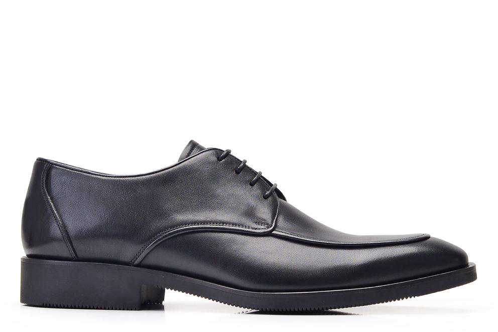 Hakiki Deri Siyah Klasik Bağcıklı Erkek Ayakkabı -11860-