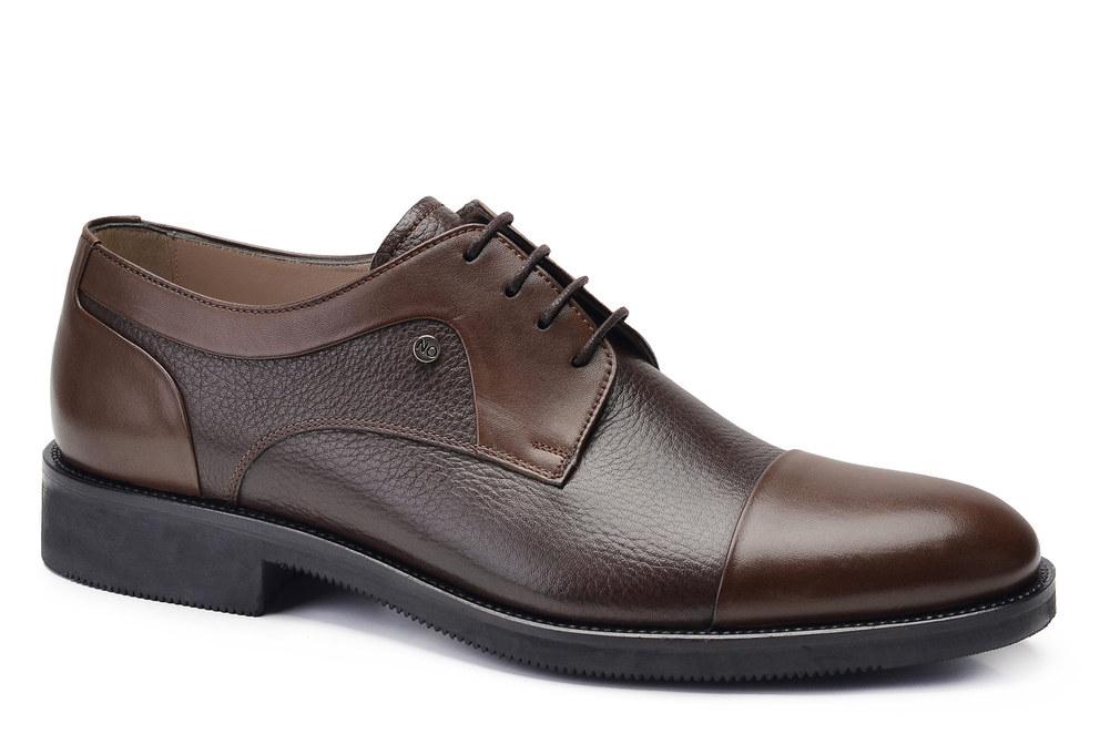 Hakiki Deri Kahverengi Klasik Bağcıklı Erkek Ayakkabı -11881-