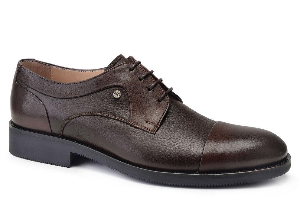 Hakiki Deri Kahverengi Klasik Bağcıklı Erkek Ayakkabı -11845-