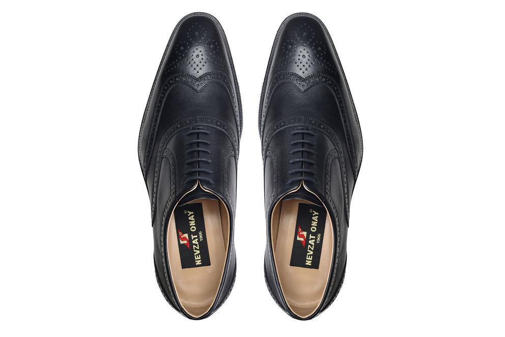 Hakiki Deri Siyah Günlük Bağcıklı Erkek Ayakkabı -7583-