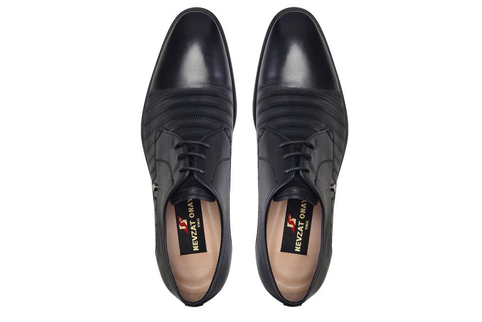 Siyah Klasik Bağcıklı Erkek Ayakkabı -12007-