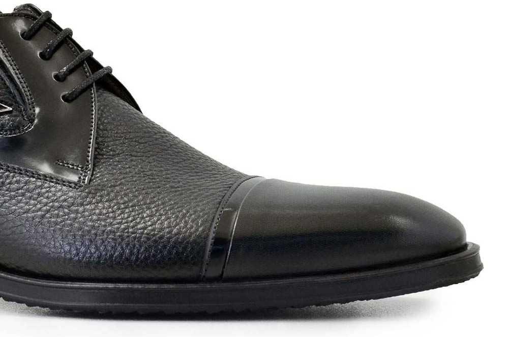 Hakiki Deri Siyah Klasik Bağcıklı Erkek Ayakkabı -7617-