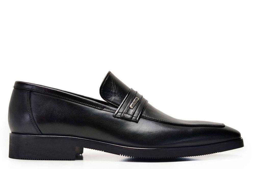 Hakiki Deri Siyah Günlük Loafer Erkek Ayakkabı -8109-