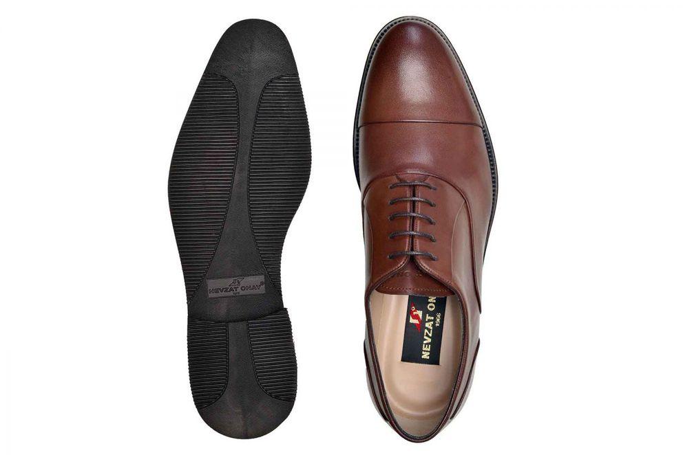 Hakiki Deri Kahverengi Günlük Bağcıklı Erkek Ayakkabı -8138-
