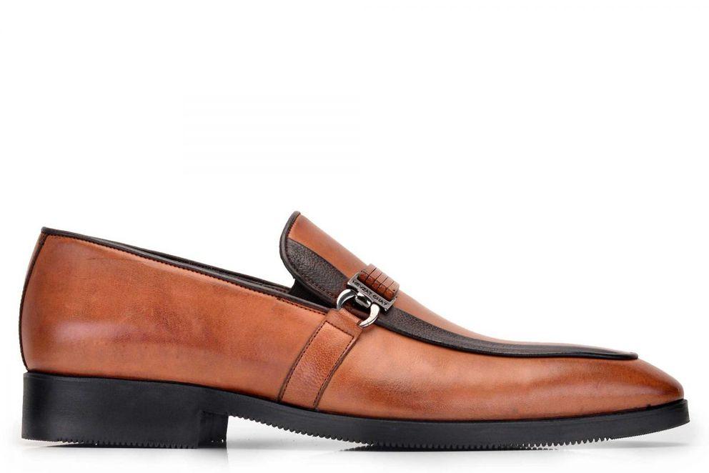 Hakiki Deri Taba Günlük Loafer Erkek Ayakkabı -8167-