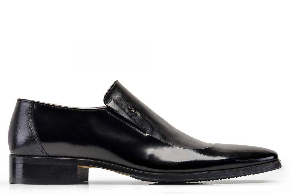 Hakiki Deri Siyah Klasik Loafer Erkek Ayakkabı -7677-